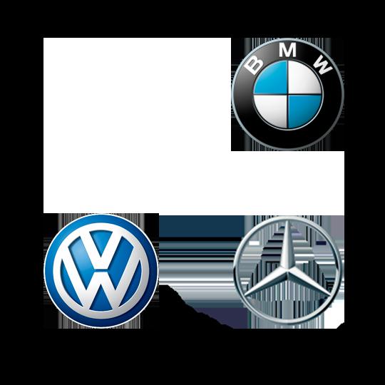 Audi, BMW, VW og Mercedes logo